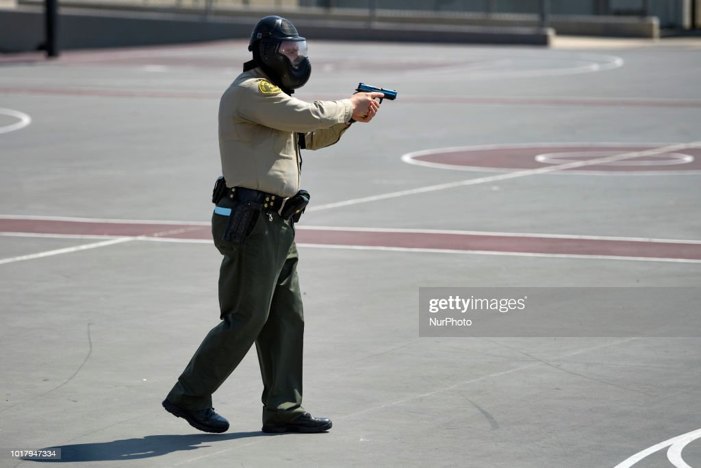 Active Shooter Drill in a Los Angeles High School : News Photo