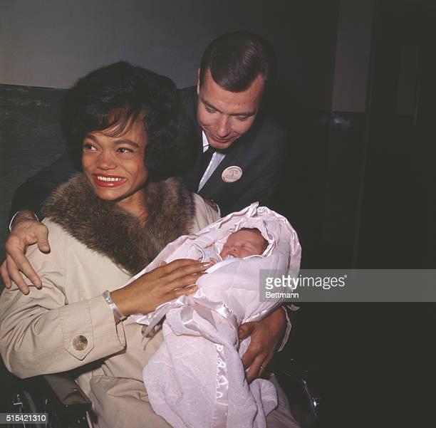 Singer Eartha Kitt leaves Cedars of Lebanon Hospital today November 30 with husband William McDonald real estate broker and daughter Kitt Her...