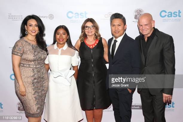 Los Angeles Sixth District Councilwoman Nury Martinez Yalitza Aparicio CAST CEO Kay Buck Dante Basco and Winn Claybaugh attend the 21st Annual From...