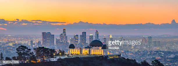 Los Angeles Skyline at Dawn Looking from Mt Hollywood