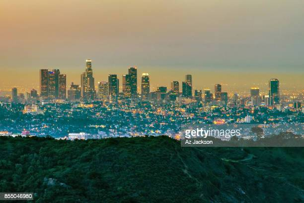 Los Angeles skyline at dawn