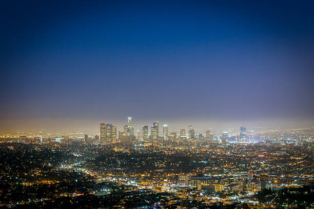 Los Angeles City Skyline, California Wall Art