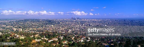 Los Angeles Skyline from Mulholland California