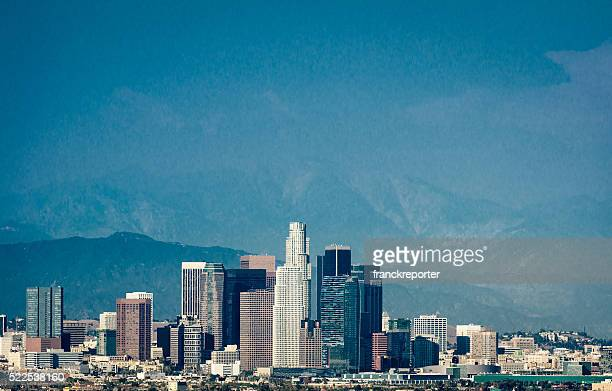 Los angeles skyline of the city