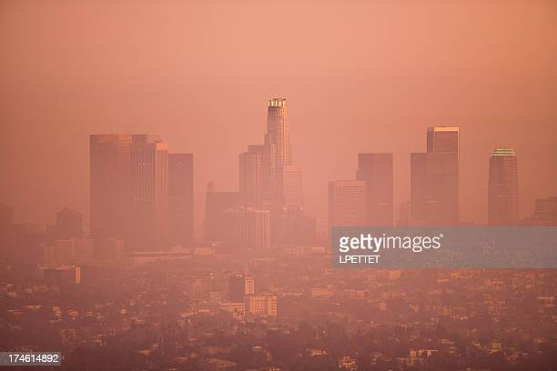 Los Angeles Skyline on a Smoggy Day