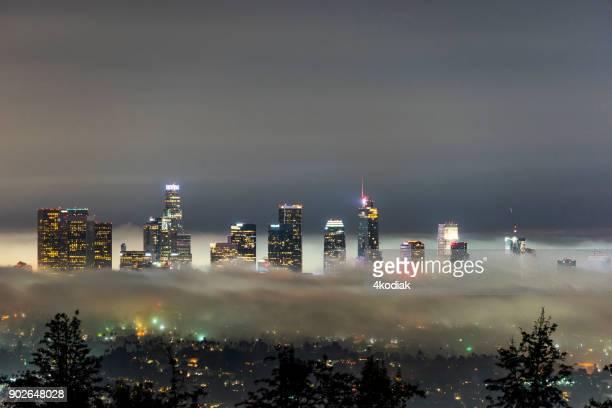 Los Angeles Skyline with Fog at Dawn