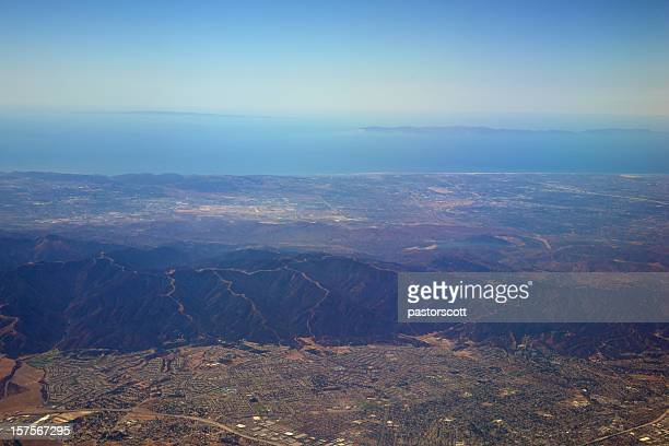 los angeles suburbs and skyline - corona stock pictures, royalty-free photos & images