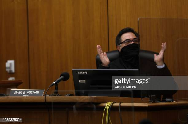 Los Angeles Superior Court Judge Mark E. Windham thanks the jury for their service after they found New York real estate heir Robert Durst guilty of...