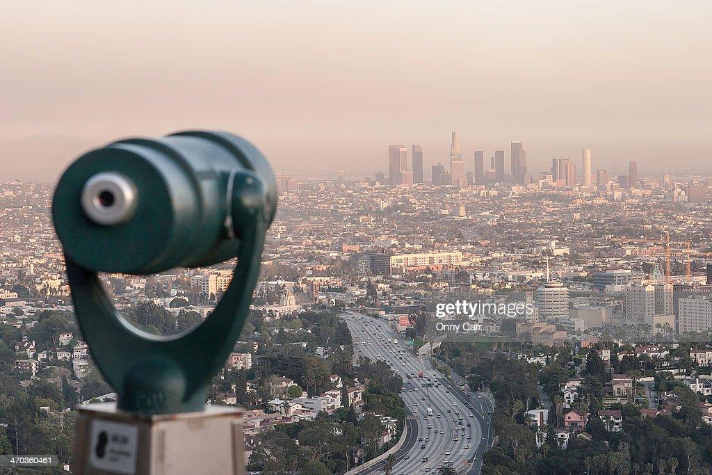 Los Angeles Telescope : Stock Photo