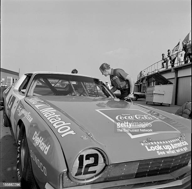 Los Angeles Times 500 Ontario Motor Speedway Bobby Allison wins the Los Angeles Times 500 driving the AMC Matador for the Penske Racing Team...