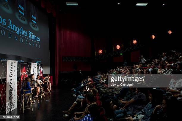 Los Angeles Times entertainment writer Amy Kaufman hosts a 'Young Hollywood' roundtable discussion with from left Mary Elizabeth Winstead Aubrey...