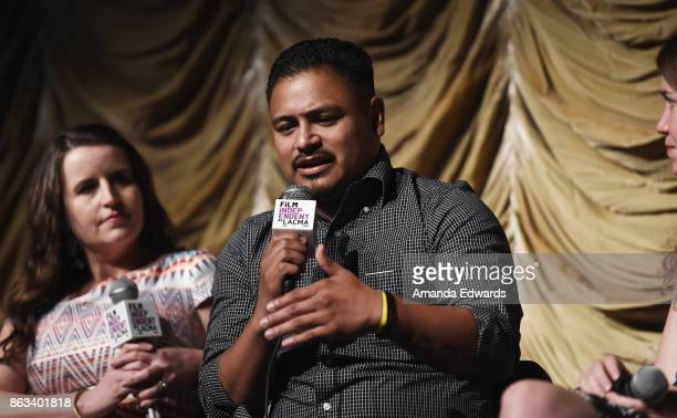 Los Angeles Times political journalist Christina Bellantoni documentary subject Jesus Ruiz and director Martha Shane attend the Film Independent at...