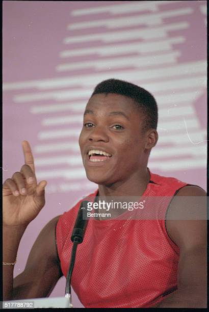 Track star Carl Lewis who begins his quest for four track and field gold medals says 'As far as I am concerned I can't fail'