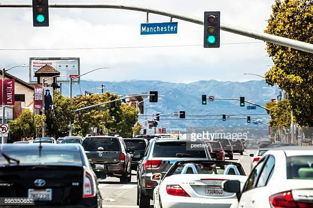 Los Angeles traffic, Westchester.