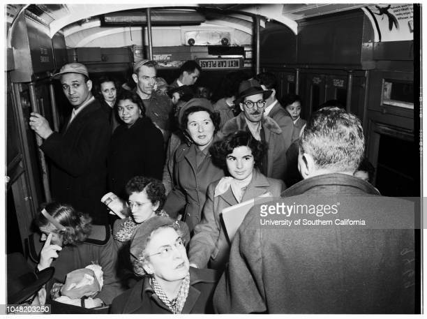 Los Angeles Transit Lines fare increase 24 January 1952 Mrs Ramona CaseMrs Mary DonovanMrs Irene WalshMrs Mary FitzgeraldMiss Betty WardMiss Jeanne...