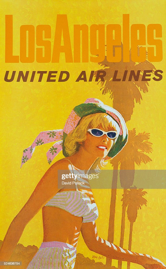 Los Angeles United Air Lines Poster by Stan Galli