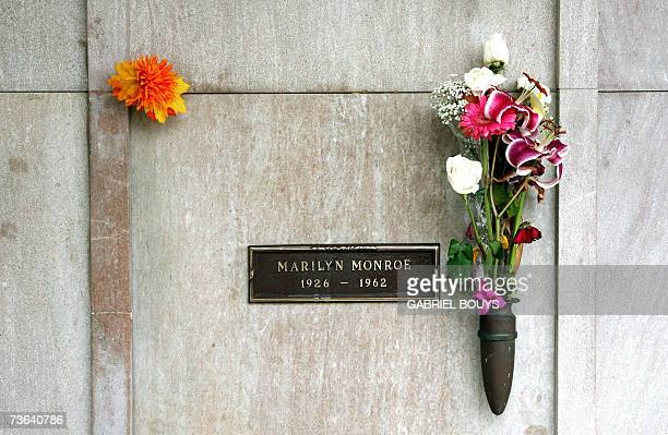A view is seen of Marilyn Monroe's crypt 19 March 2007 in the Westwood Memorial Park in Los Angeles California Monroe age 36 was found dead by her...