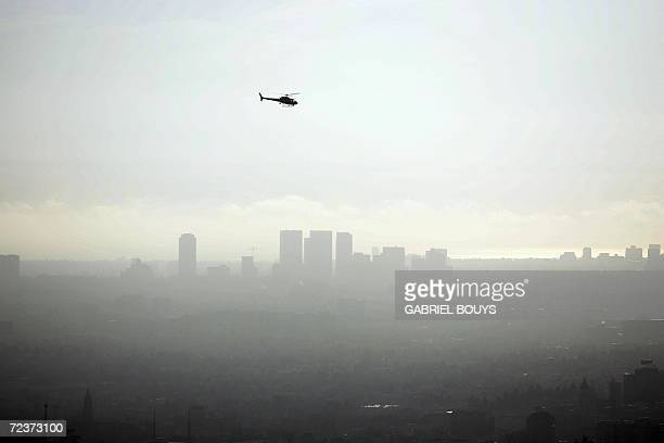 A view of downtown Los AngelesCalifornia is seen on a smoggy afternoon 02 November 2006 Due to the city's geography making it susceptible to...