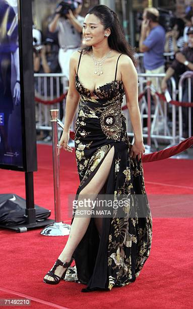 Actress Gong Li walks the red carpet of the premiere of Miami Vice in Los Angeles 20 July 2006 The movie is inspired from the 1980' television series...