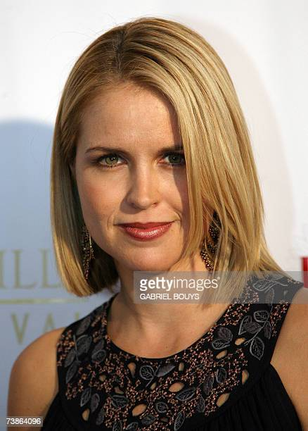 Actress Laurie Fortier arrives at the opening night of the 7th Beverly Hills Film Festival 11April 2007 in Beverly Hills California AFP PHOTO Gabriel...