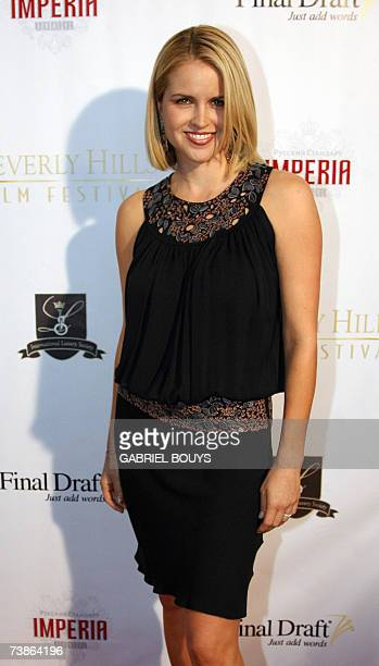 Actress Laurie Fortier arrives at the opening night of the 7th Beverly Hills Film Festival 11 April 2007 in Beverly Hills California AFP PHOTO...
