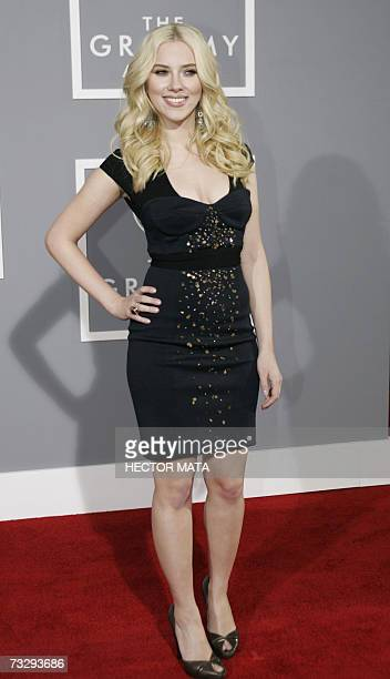 Los Angeles, UNITED STATES: Actress Scarlett Johansson arrives at the 49th Grammy Awards in Los Angeles 11 February 2007. AFP PHOTO/Hector MATA