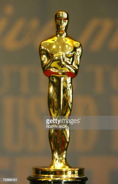 An Oscar statuette is displayed on the opening day of the 'Meet the Oscars Los Angeles' exhibition 09 February 2007 in the Hollywood section of Los...