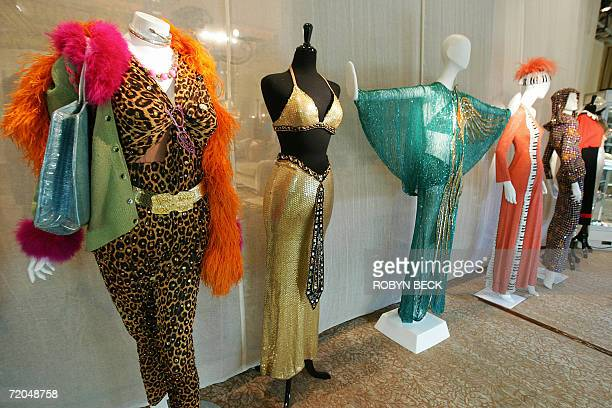 Costumes designed for Cher by Bob Mackie are on display 29 September 2006 at a public auction preview at a Los Angeles hotel Sotheby's will auction...