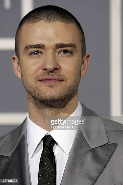 Justin Timberlake arrives at the 49th Grammy Awards in Los Angeles 11 February 2007 AFP PHOTO/Hector MATA
