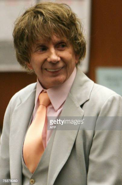 Music producer Phil Spector is seen during his murder trial at the Los Angeles Superior Court in Los Angeles 12 July 2007 Spector is on trial for the...