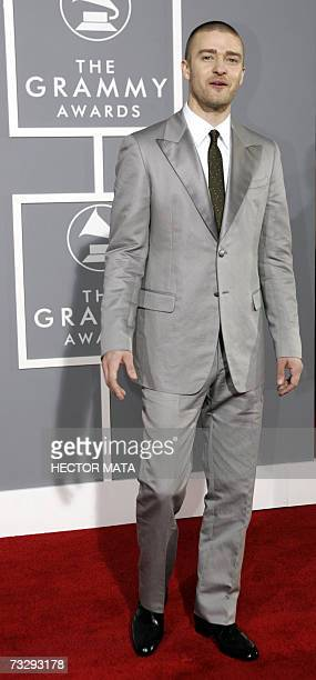 Nominee for Best Album of the Year Best Pop Vocal Album Best Dance Recording and Best Rap/Sung Collaboration Justin Timberlake arrives at the 49th...