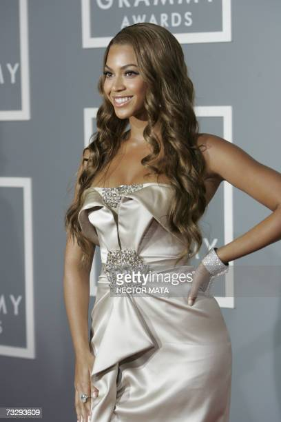 Los Angeles, UNITED STATES: Nominee for Best Female R&B Vocal Performance, Best Contemporary R&B Album and Best Rap/Sung Collaboration Beyonce...