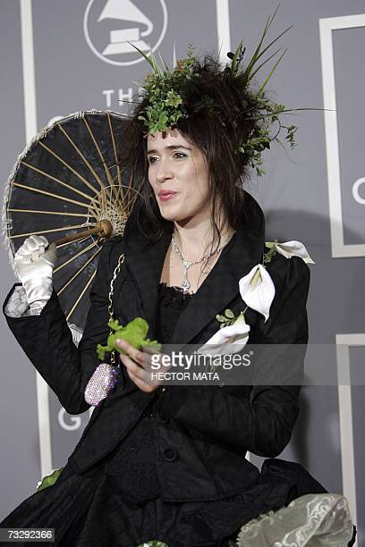 Los Angeles, UNITED STATES: Nominee for Best New Artist Imogen Heap arrives at the 49th Grammy Awards in Los Angeles 11 February, 2007. AFP PHOTO...