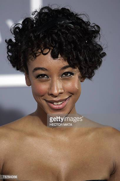 Los Angeles, UNITED STATES: Nominee for Best Record of the Year, Best Song of the Year and Best New Artist Corinne Bailey Rae arrives at the 49th...