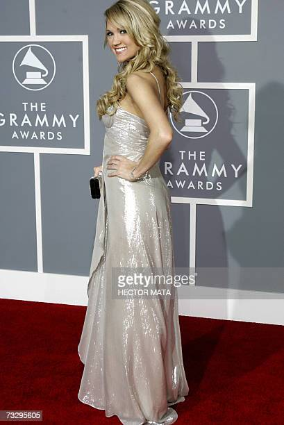 Los Angeles, UNITED STATES: Nominee for Best Song of the Year, Best New Artist, Best Female Country Vocal Performance and Best Country Song, Carrie...