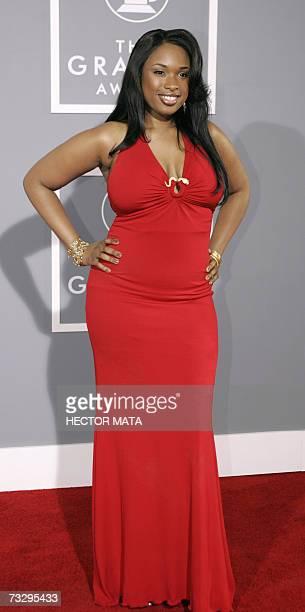 Los Angeles, UNITED STATES: Pop, R&B/soul singer, Golden Globe winner and Academy Award nominated actress Jennifer Hudson arrives at the 49th Grammy...