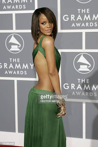 RB pop and reggae singer Rihanna arrives at the 49th Grammy Awards in Los Angeles 11 February 2007 AFP PHOTO/Hector MATA
