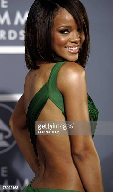 Los Angeles, UNITED STATES: R&B, pop and reggae singer Rihanna arrives at the 49th Grammy Awards in Los Angeles 11 February 2007. AFP PHOTO/Hector...