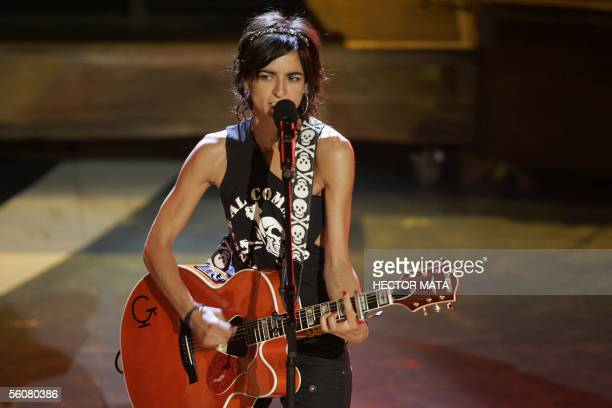 Spanish singer Bebe performs during the 6th Annual Latin Grammy Awards show 03 November at the Shrine Auditorium in Los Angeles California AFP...