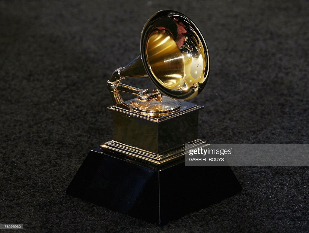 The trophy of the Grammy Awards in Los A... : News Photo