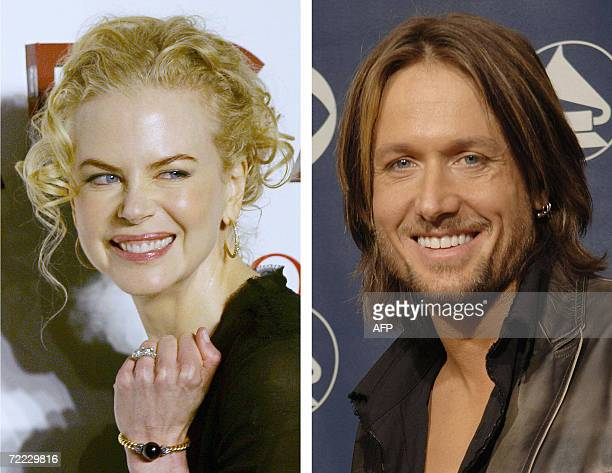 These file pictures shows Australian actress Nicole Kidman on 17 June 2006 and New ZealandAustralian musician Keith Urban in 08 February 2006 In a...