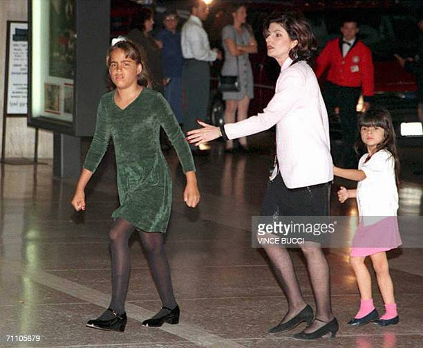 This 26 April 1995 file photo shows Sydney Simpson daughter of Nicole Brown Simpson and OJ Simpson arriving for Beauty and the Beast with...