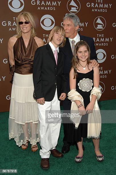 US songwriter Burt Bacharach arrives with his wife Jane son Oliver and daughter Raleigh at the Grammy Awards in Los Angeles 08 February 2006 AFP...