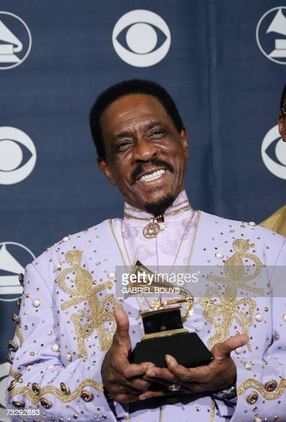 Los Angeles, UNITED STATES: Winner for Best Traditional Blues Album Ike Turner poses with his trophy at the 49th Grammy Awards in Los Angeles 11...