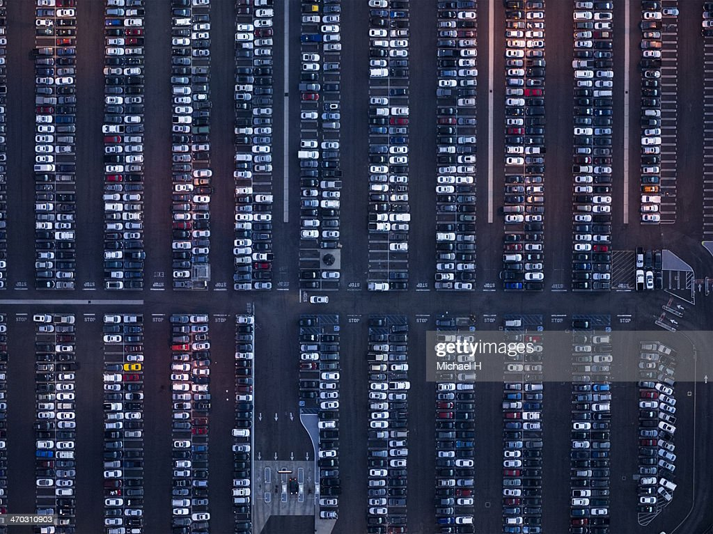 Los Angels,Parking lot : Stock Photo