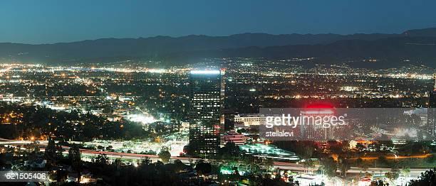 Los Angles skyline- Universal City, North Hollywood and Burbank