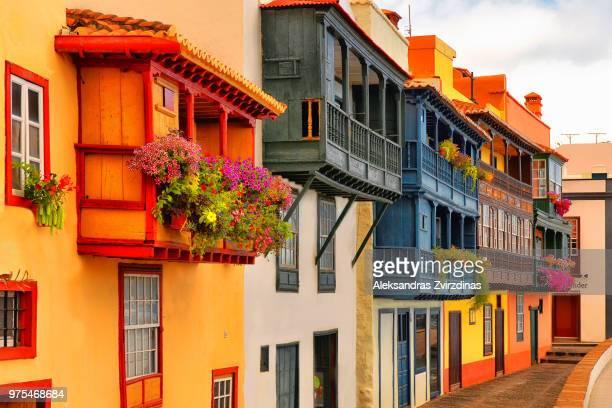 los balcones i - islas canarias fotografías e imágenes de stock