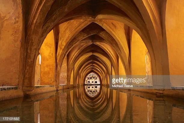 Los Baños de Doña María de Padilla - rainwater tanks located beneath the Alcazar in Seville.