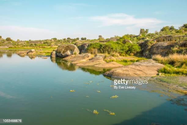 los barruecos natural park - extremadura fotografías e imágenes de stock