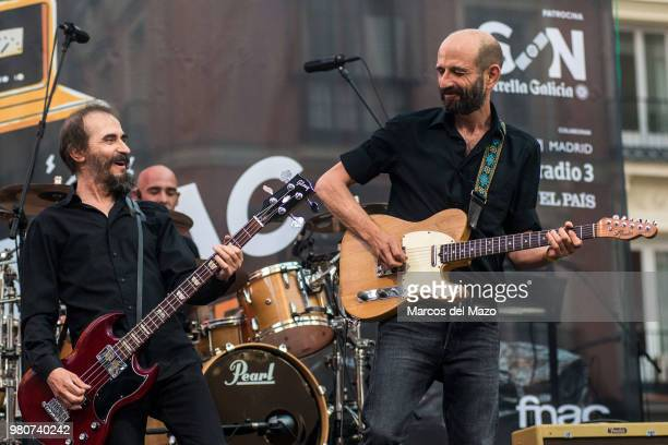 'Los Enemigos' band performing in Callao Square during World Music Day